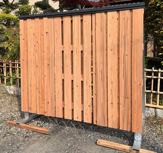 多目的に使える木質塀プロトタイプ